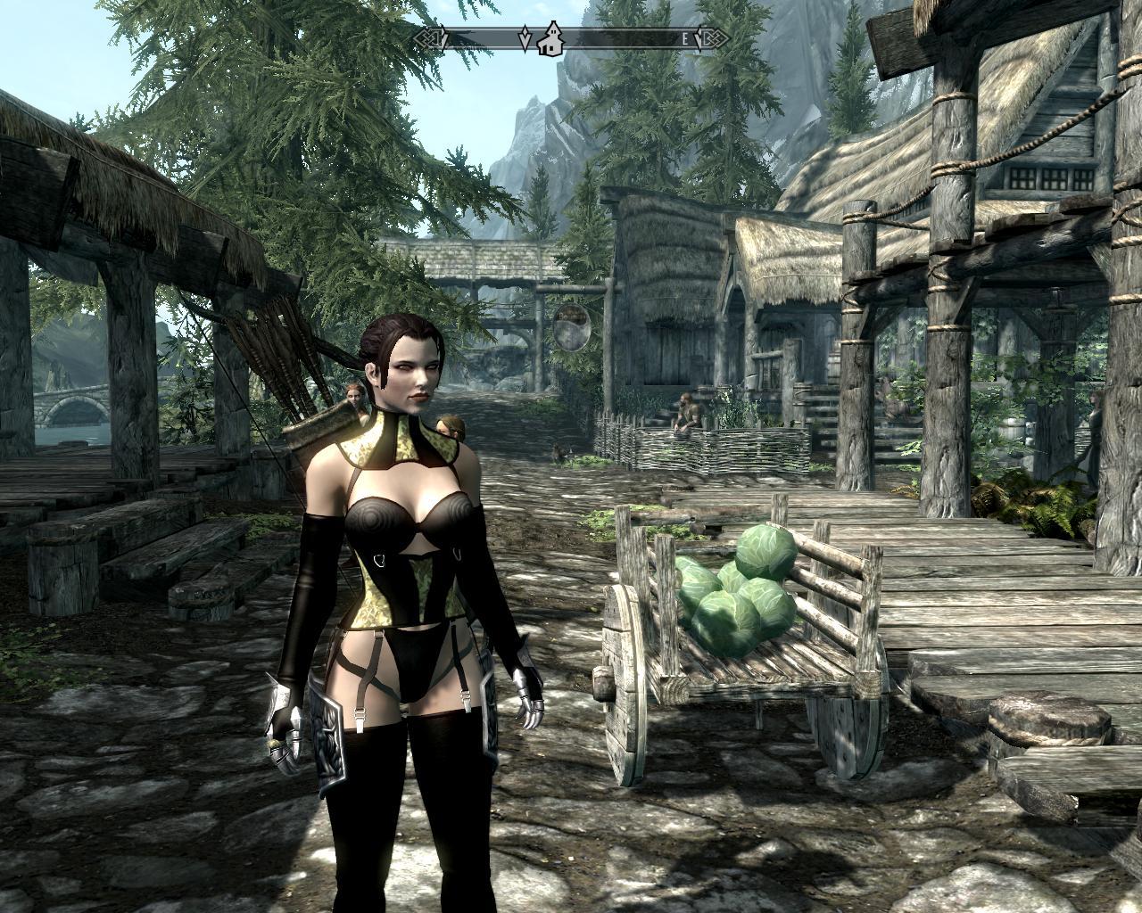 Skyrim броня сексуальная